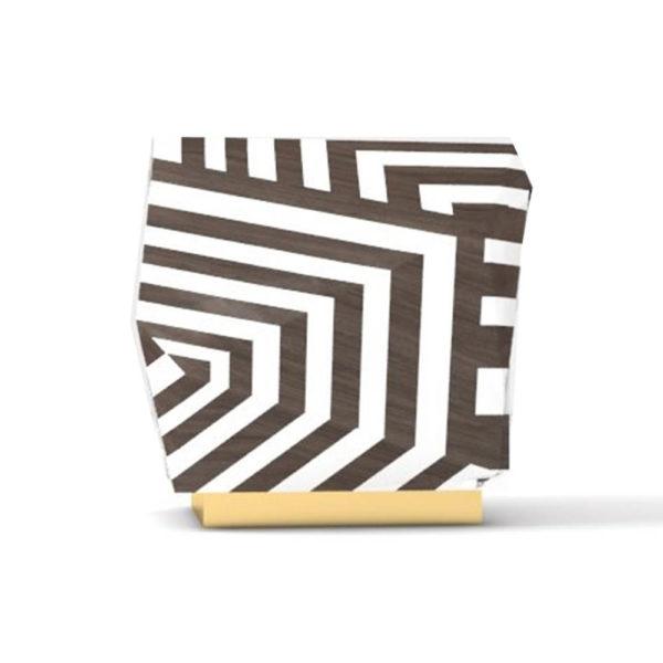 Parralel Side Table Zebra Lines
