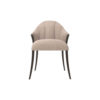 Peacock Upholstered Slope Arm Dining Chair 1