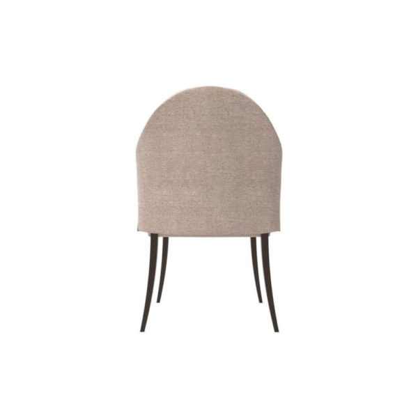 Peacock Upholstered Slope Arm Dining Chair Back