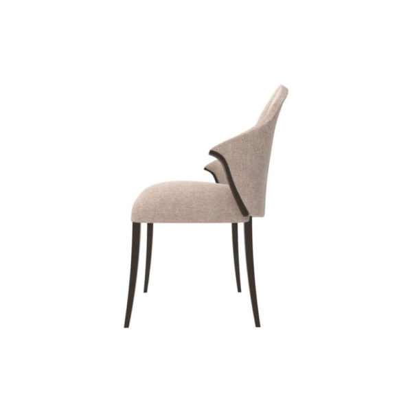 Peacock Upholstered Slope Arm Dining Chair Left