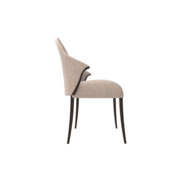 Peacock Upholstered Slope Arm Dining Chair Right