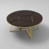 Puzzle Circular Coffee Table with Gold Leg 5