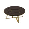 Puzzle Circular Coffee Table with Gold Leg 1