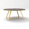 Puzzle Circular Coffee Table with Gold Leg 3