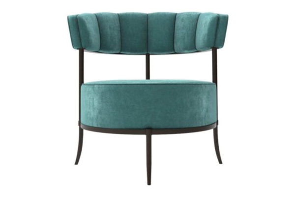 Renata Upholstered Round Back Accent Chair