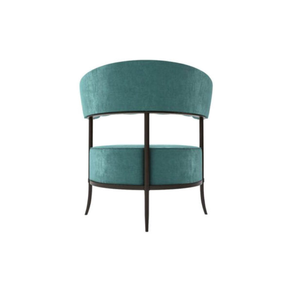 Renata Upholstered Round Back Accent Chair Back