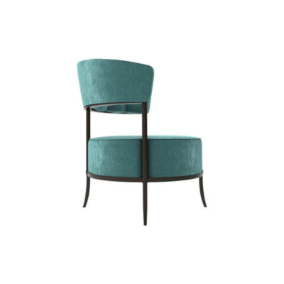 Renata Upholstered Round Back Accent Chair Right