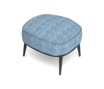 Roman Upholstered Square Pouf with Legs