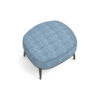 Roman Upholstered Square Pouf with Legs 5