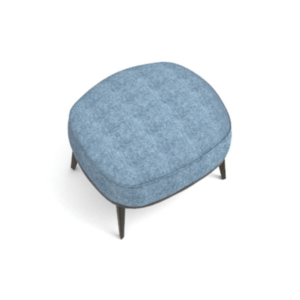 Roman Upholstered Square Pouf with Legs Top