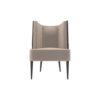 Roman Upholstered with Patterned High Back Accent Chair 1