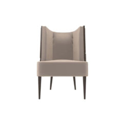 Roman Upholstered with Patterned High Back Accent Chair
