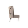 Roman Upholstered with Patterned High Back Accent Chair 2