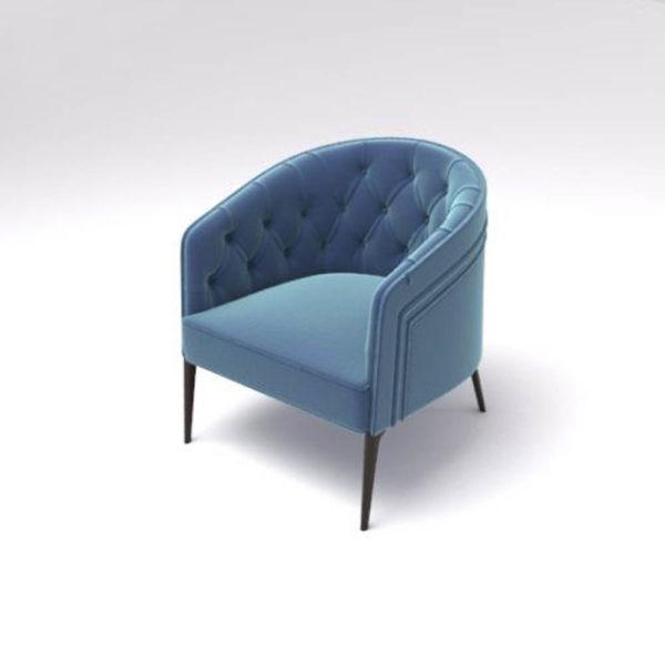 Saga Upholstered Tup Tufted Armchair Beside