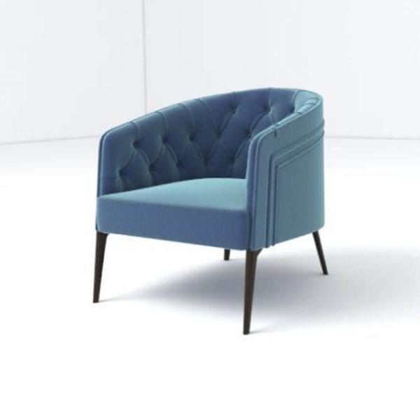 Saga Upholstered Tup Tufted Armchair Left