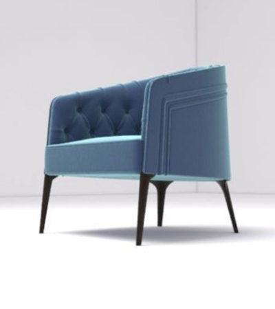 Saga Upholstered Tup Tufted Armchair Side