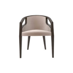 Sallivan Upholstered Tub Dining Chair with Wooden Frame
