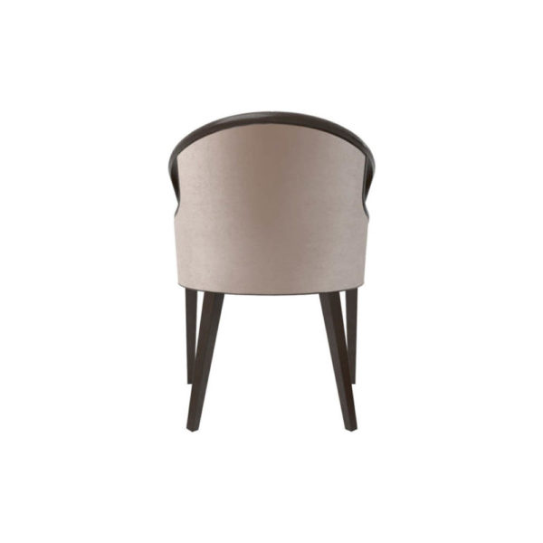 Sallivan Upholstered Tub Dining Chair with Wooden Frame Back