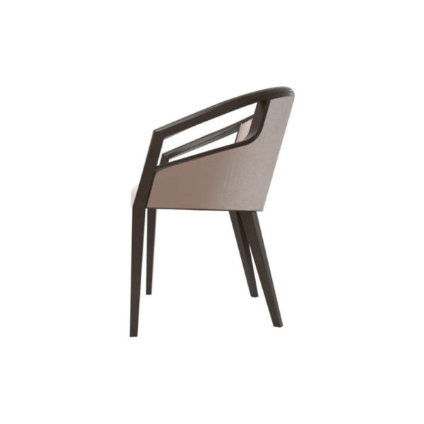 Sallivan Upholstered Tub Dining Chair with Wooden Frame Left