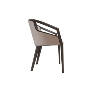 Sallivan Upholstered Tub Dining Chair with Wooden Frame Right