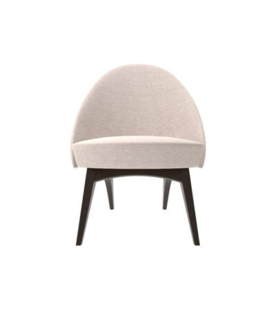 Sam Upholstered Curved Accent Living Room Chair