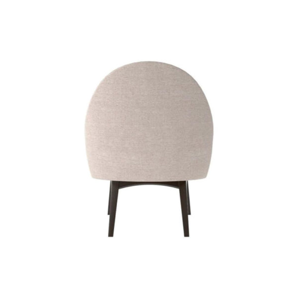 Sam Upholstered Curved Accent Living Room Chair Back View