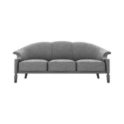 Santiago Upholstered 3 Seater Curved Sofa