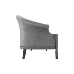 Santiago Upholstered 3 Seater Curved Sofa Right Side View