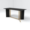 Santini Wooden with Stainless Steel Console Table 5