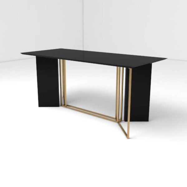 Santini Wooden with Stainless Steel Console Table