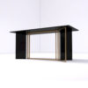 Santini Wooden with Stainless Steel Console Table 3