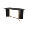 Santini Wooden with Stainless Steel Console Table 1