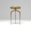Sasha Wooden Gold with Glass Top Side Table 7