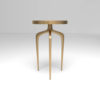 Sasha Wooden Gold with Glass Top Side Table 4