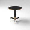 Scarlet Wood and Stainless Steel Side Table 8