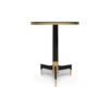 Scarlet Wood and Stainless Steel Side Table 7