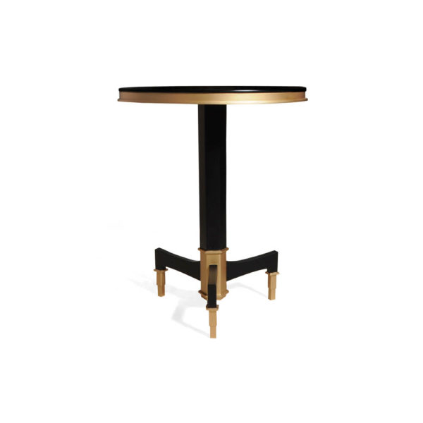 Scarlet Wood and Stainless Steel Side Table Side
