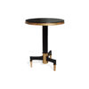 Scarlet Wood and Stainless Steel Side Table 3