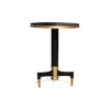 Scarlet Wood and Stainless Steel Side Table 2
