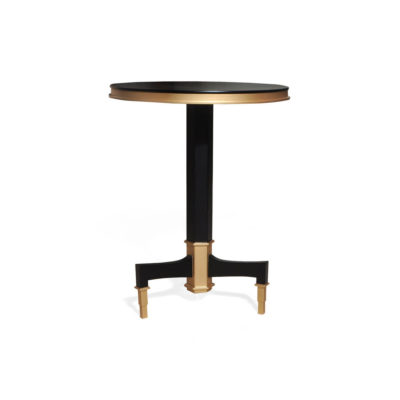Scarlet Wood and Stainless Steel Side Table View
