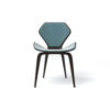 Scorpio Upholstered Winged with Wood Leg Dining Chair 1