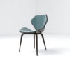 Scorpio Upholstered Winged with Wood Leg Dining Chair 3