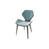 Scorpio Upholstered Winged with Wood Leg Dining Chair 2