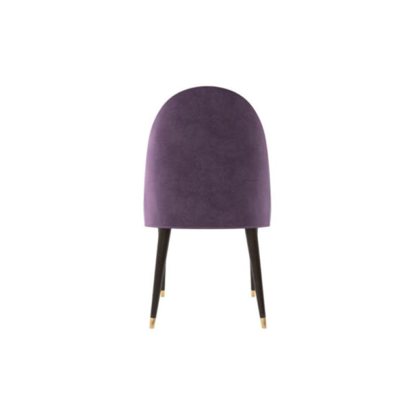 Sentino Upholstered Sloop Arm Accent Chair Back