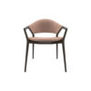Tonia Upholstered Curved Arm Dining Chair 1