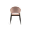 Tonia Upholstered Curved Arm Dining Chair 4
