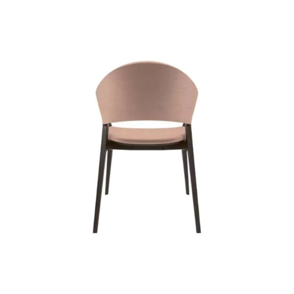 Tonia Upholstered Curved Arm Dining Chair Back