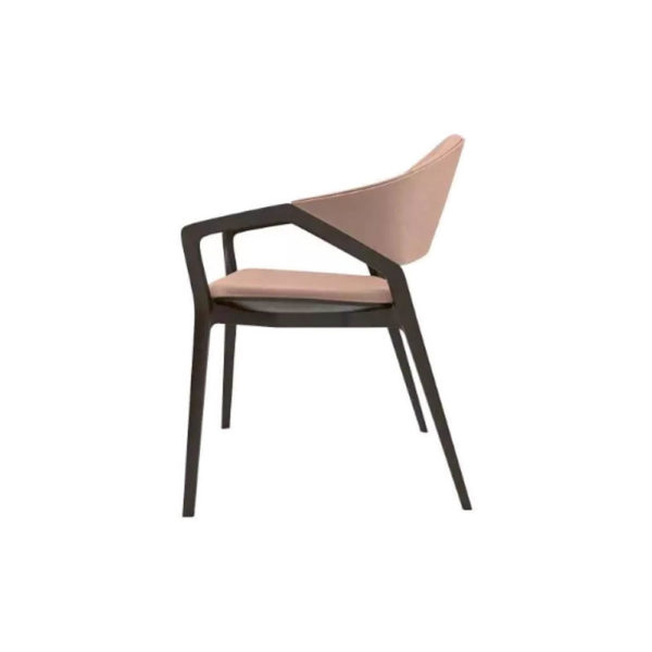 Tonia Upholstered Curved Arm Dining Chair Left
