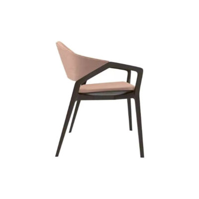 Tonia Upholstered Curved Arm Dining Chair Right