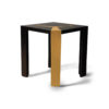 Tree Black Wood and Gold Metal Side Table 6
